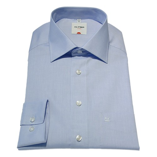 OLYMP Luxor Hemd Businesshemd Modern Fit hellblau Chambray
